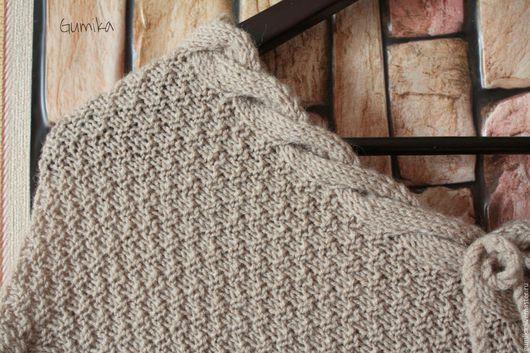 """Пончо ручной работы. Ярмарка Мастеров - ручная работа. Купить Пончо вязаное """" Уют """". Handmade. Бежевый, удобно"""