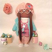 Вязанная интерьерная кукла 4