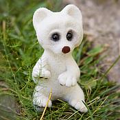 Куклы и игрушки ручной работы. Ярмарка Мастеров - ручная работа .белый медвежонок. Handmade.