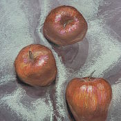 Картины и панно handmade. Livemaster - original item Still life Juicy apples. Handmade.