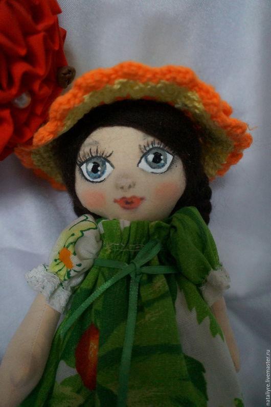 """Куклы тыквоголовки ручной работы. Ярмарка Мастеров - ручная работа. Купить Кукла """"Весняночка"""". Handmade. Комбинированный, подарок девушке"""