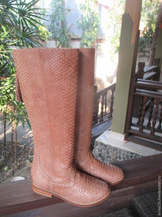 Обувь ручной работы. Ярмарка Мастеров - ручная работа. Купить сапоги. Handmade. Коричневый, сапоги ручной работы, распродажа
