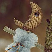 Куклы и игрушки ручной работы. Ярмарка Мастеров - ручная работа Шаманская кукла - Месяц в серебристой шубке. Handmade.