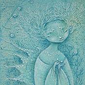Картины и панно ручной работы. Ярмарка Мастеров - ручная работа Две жемчужинки. Картина - сказка о Море.. Handmade.