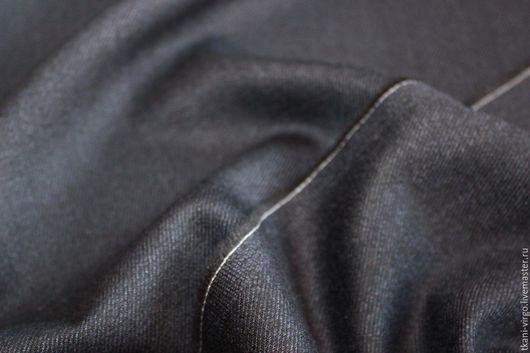 Шитье ручной работы. Ярмарка Мастеров - ручная работа. Купить Костюмно-палетльная ткань CERUTTI, цвет черно-синий. Handmade.