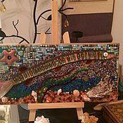"""Картины и панно ручной работы. Ярмарка Мастеров - ручная работа Мозаика """"Морская рыба"""". Handmade."""