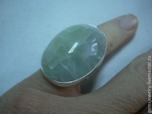 Кольца ручной работы. Ярмарка Мастеров - ручная работа. Купить Элегантное кольцо ФЛЮОРИТ,серебро 925.. Handmade. Мятный, флюориты