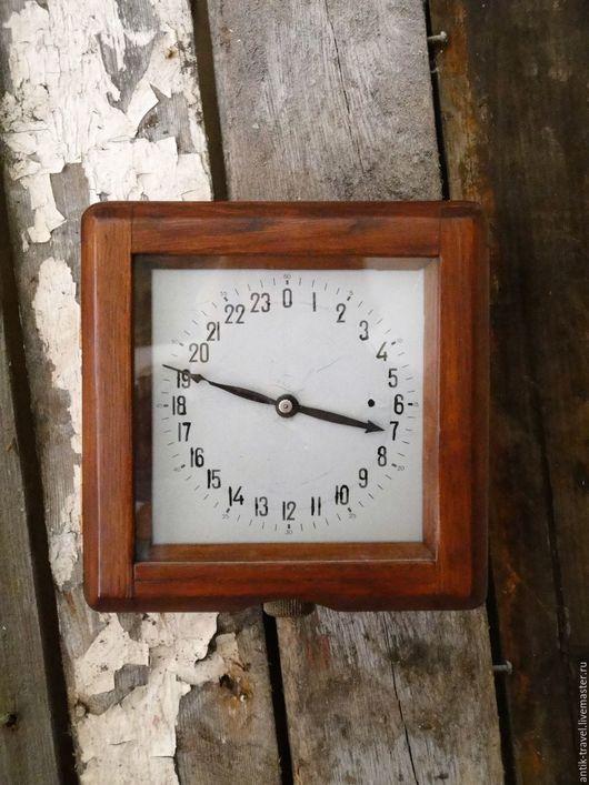 Часы для дома ручной работы. Ярмарка Мастеров - ручная работа. Купить Часы морские каютные 24 часа. Handmade. Коричневый