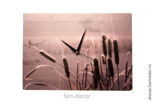 Часы для дома ручной работы. Ярмарка Мастеров - ручная работа. Купить Часы Камыш (Ч-119). Handmade. Комбинированный, грусть