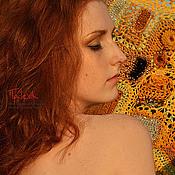 """Аксессуары ручной работы. Ярмарка Мастеров - ручная работа Шаль """" Поцелуй"""" (по мотивам картин Г.Климта). Handmade."""