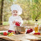 Работы для детей, ручной работы. Ярмарка Мастеров - ручная работа Фартук и колпак поварёнка. Handmade.