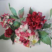 Украшения handmade. Livemaster - original item Brooch-pin: A sprig of roses