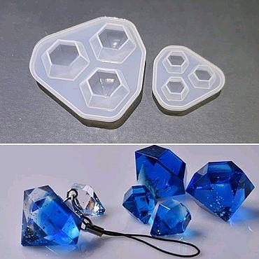 Материалы для творчества ручной работы. Ярмарка Мастеров - ручная работа Молд 3 кристалла. Handmade.
