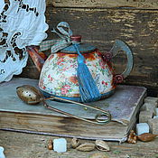 """Посуда ручной работы. Ярмарка Мастеров - ручная работа Чайничек """"В цветочек"""". Handmade."""