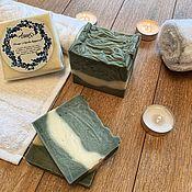Мыло ручной работы. Ярмарка Мастеров - ручная работа Лавандовое мыло с голубой глиной. Handmade.
