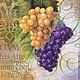 Гроздь белого и черного винограда-винтажный фон Салфетка для декупажа Салфетка пр-во Германия Декупажная радость