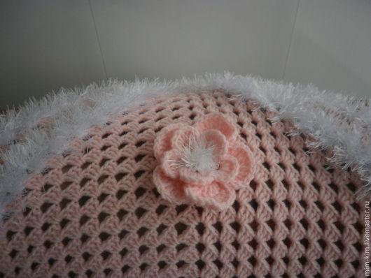 Пледы и одеяла ручной работы. Ярмарка Мастеров - ручная работа. Купить Плед для новорожденной девочки. Handmade. Бледно-розовый, для девочки