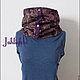 Scarves handmade. Scarf-transformer. Jahlighta (Jahlighta). Online shopping on My Livemaster. Paisley, scarf with buttons