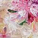 Картина маслом `Пионы летние` 50/40 см фрагмент