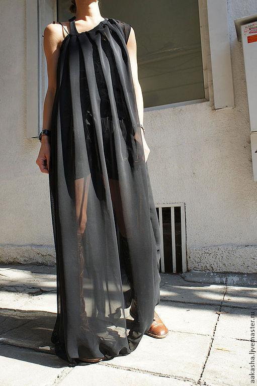Платья ручной работы. Ярмарка Мастеров - ручная работа. Купить Платье Black Petal. Handmade. Платье, сарафан, платья