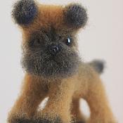 Куклы и игрушки ручной работы. Ярмарка Мастеров - ручная работа валяная игрушка Брюссельский Гриффон. Handmade.