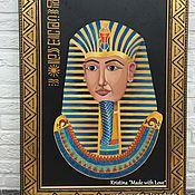 """Картины и панно ручной работы. Ярмарка Мастеров - ручная работа Картина маслом """"Египетский фараон"""". Handmade."""