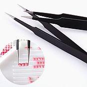 Инструменты для вышивки ручной работы. Ярмарка Мастеров - ручная работа Тонкий пинцет для страз (ESD-14). Handmade.