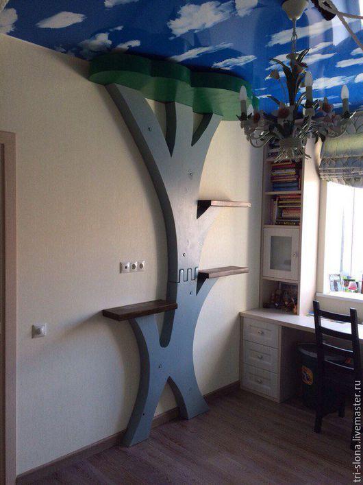 Мебель ручной работы. Ярмарка Мастеров - ручная работа. Купить Полка-дерево из массива сосны. Handmade. Дерево, полки