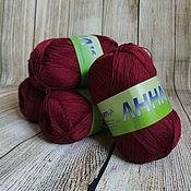 Материалы для творчества handmade. Livemaster - original item Yarn ANNA 16 313 Burgundy Italy Cotton. Handmade.