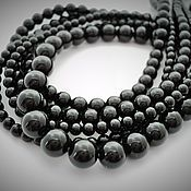 Материалы для творчества handmade. Livemaster - original item Black agate beads 4mm, 6mm, 8mm, thread. Handmade.