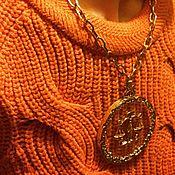 Винтаж manualidades. Livemaster - hecho a mano The original pendant - Golden scales on a transparent Lucite. Handmade.
