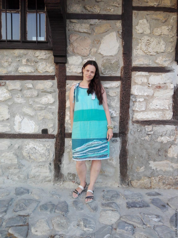 Crochet dress Sea breeze linen, Sundresses, Baranovichi,  Фото №1