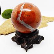Фен-шуй и эзотерика handmade. Livemaster - original item Red Jasper ball 46 mm 2. Handmade.