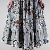 Одежда ручной работы. Ярмарка Мастеров - ручная работа Льняная бохо юбка с оборками. Handmade.