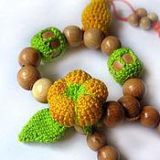 Куклы и игрушки ручной работы. Ярмарка Мастеров - ручная работа Грызунок-прорезыватель с цветочком и конфетками. Handmade.