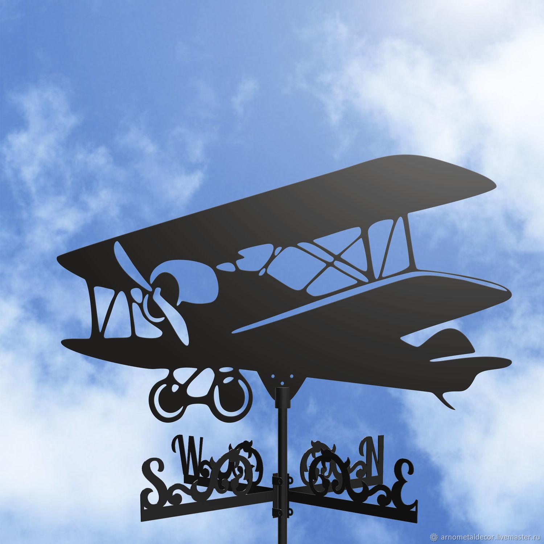 Weather vane on the roof ' Airplane', Vane, Ivanovo,  Фото №1