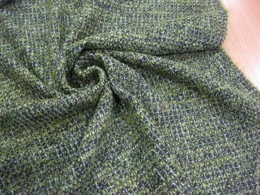 Шитье ручной работы. Ярмарка Мастеров - ручная работа. Купить Шанель костюмная.. Handmade. Зеленый, шерстяной твид, итальянский твид