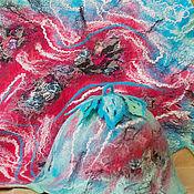 """Для дома и интерьера ручной работы. Ярмарка Мастеров - ручная работа Банный комплект """"Бирюза+ коралл"""". Handmade."""