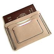 Сумки и аксессуары handmade. Livemaster - original item Documentsize Kalina beige. Handmade.