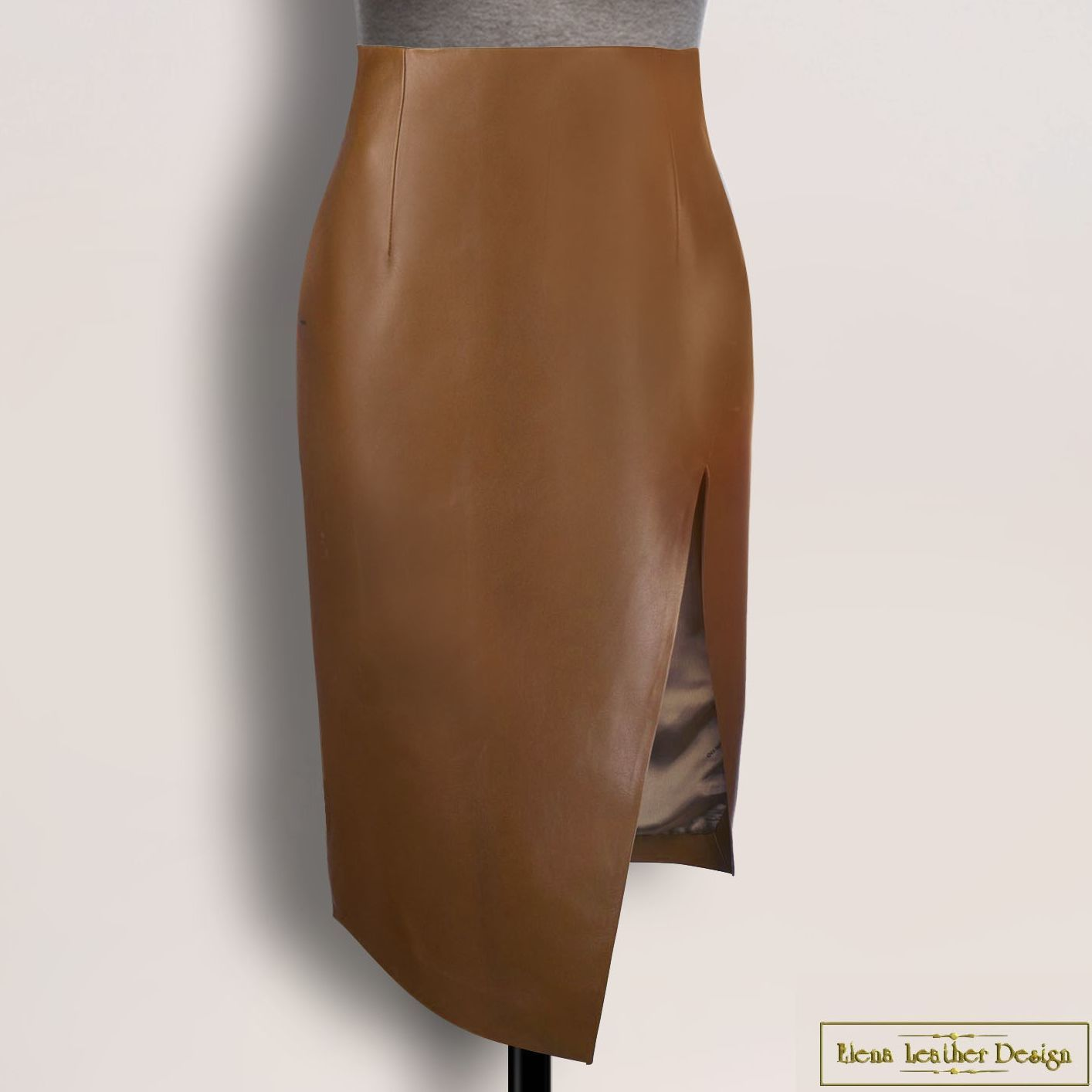 Pencil skirt 'Gala' made of natural leather/suede (any color), Skirts, Rodniki,  Фото №1