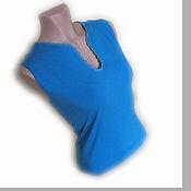 Одежда ручной работы. Ярмарка Мастеров - ручная работа Топ с вязаным кружевом - тёмно-бирюзовый. Handmade.
