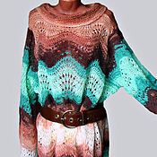 Одежда ручной работы. Ярмарка Мастеров - ручная работа платье вязаное  туника в бохо стиле. Handmade.