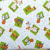 """Работы для детей, ручной работы. Ярмарка Мастеров - ручная работа Пеленки теплые фланелевые """"Жираф и Ко"""" 90х120см. Handmade."""