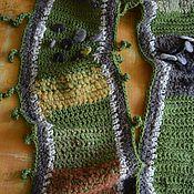 """Аксессуары ручной работы. Ярмарка Мастеров - ручная работа Шарф """"Зеленый и немного полосатый"""". Handmade."""
