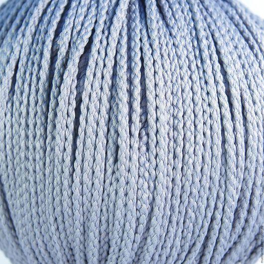 Для украшений ручной работы. Ярмарка Мастеров - ручная работа. Купить Шнур плетеный полиэфирный 3,5 мм серый. Handmade.
