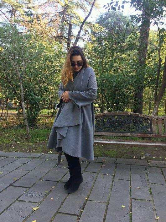 Верхняя одежда ручной работы. Ярмарка Мастеров - ручная работа. Купить Шерстяное пальто демисезонное. Handmade. Пальто, серое пальто
