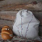 Для дома и интерьера handmade. Livemaster - original item Linen bag for bread with painting.... verbochka.... Handmade.