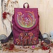 Сумки и аксессуары handmade. Livemaster - original item Canvas backpack with