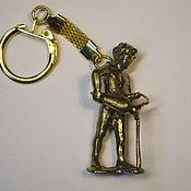 Сумки и аксессуары handmade. Livemaster - original item Brass keychain Zodiac Sign