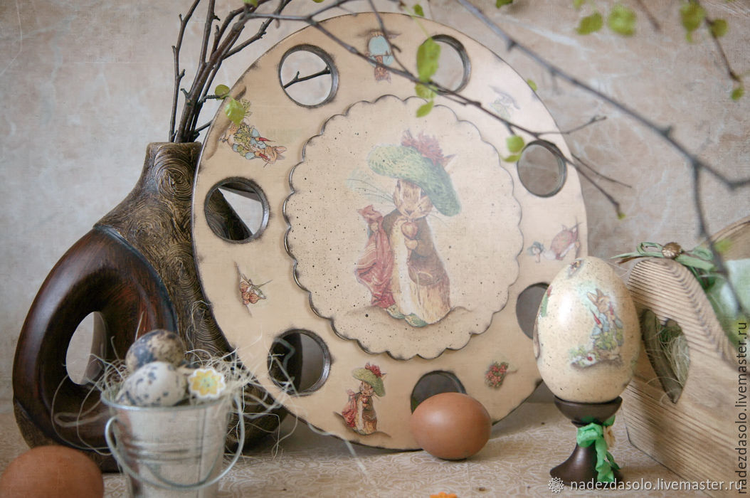 Stand for Easter eggs Spring watercolor decoupage, Kitchen sets, Khimki,  Фото №1